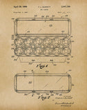 An image of a(n) Egg Carton 1969 - Patent Art Print - Parchment.