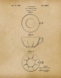 An image of a(n) Tea Cup 1926 - Patent Art Print - Parchment.
