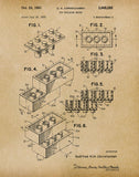 An image of a(n) Lego Sheet1 1961 - Patent Art Print - Parchment.