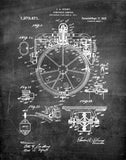 An image of a(n) Compass 1918 - Patent Art Print - Chalkboard.