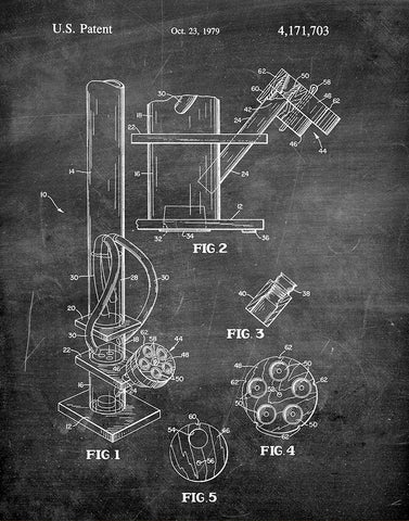 An image of a(n) Water Pipe 1979 - Patent Art Print - Chalkboard.