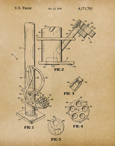 An image of a(n) Water Pipe 1979 - Patent Art Print - Parchment.