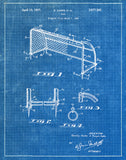An image of a(n) Soccer Goal 1937 - Patent Art Print - Blueprint.