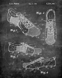 An image of a(n) Soccer Shoes 1980 - Patent Art Print - Chalkboard.