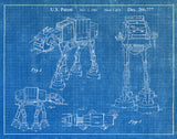 An image of a(n) AT AT 1982 - Patent Art Print - Blueprint.