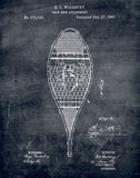 An image of a(n) Snow Shoe Patent Art Print Chalkboard.