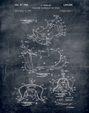 An image of a(n) Saddle Patent Art Print Chalkboard.