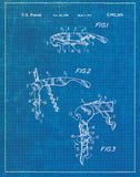 An image of a(n) Corkscrew 1 Patent Art Print Blueprint.