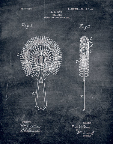 An image of a(n) Stainer Patent Art Print Chalkboard.