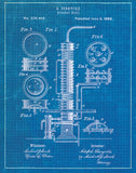 An image of a(n) Still Patent Art Print Blueprint.