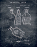 An image of a(n) Bottle Patent Art Print Chalkboard.