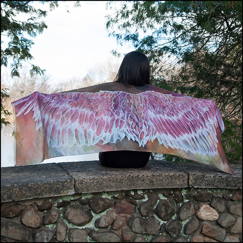 An image of a(n) Rosy Pink Brown Wing Span - Pocahontas - Scarf.