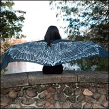 An image of a(n) Dark Grey Wing Span -Raven - Scarf.