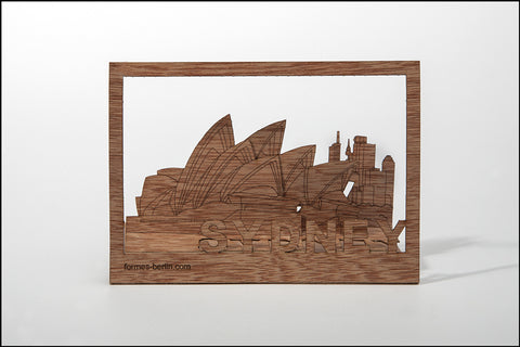 An image of a(n) Sydney - Wooden Postcard.