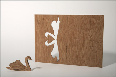 An image of a(n) Swan - Wooden Postcard.