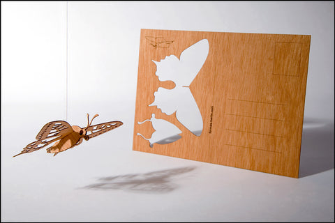 An image of a(n) Butterfly - Wooden Postcard.