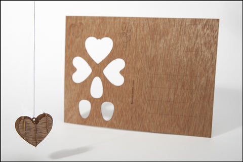 An image of a(n) Heart - Wooden Postcard.