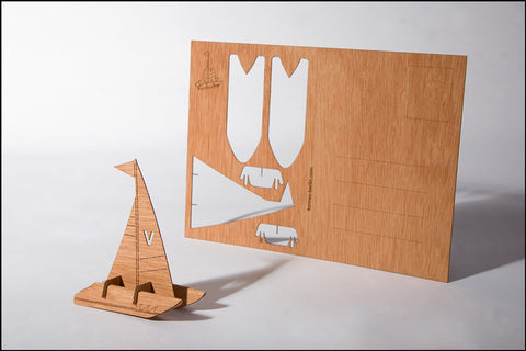 An image of a(n) Catamaran - Wooden Postcard.