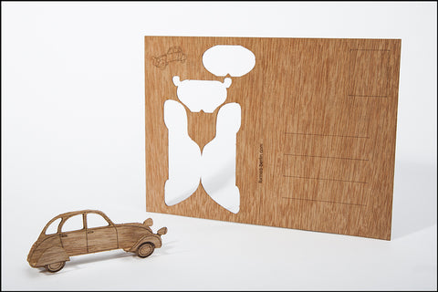 An image of a(n) Car - Wooden Postcard.
