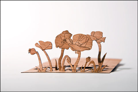 An image of a(n) Poppy - Wooden Postcard.