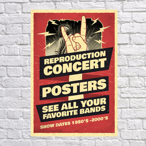 100 Best Selling Novelty Reproduction Concert Music Posters