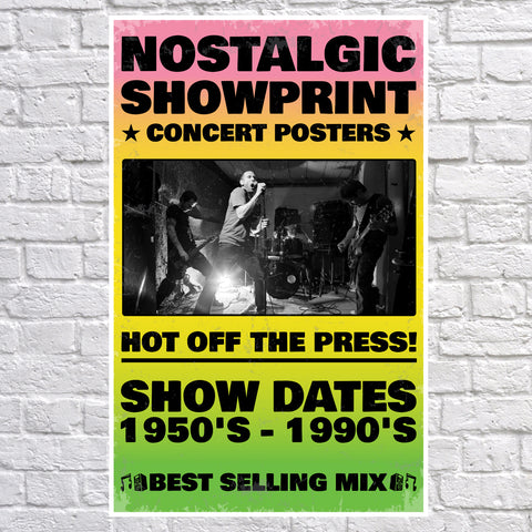 150 Best Selling Showprint Music Concert Posters