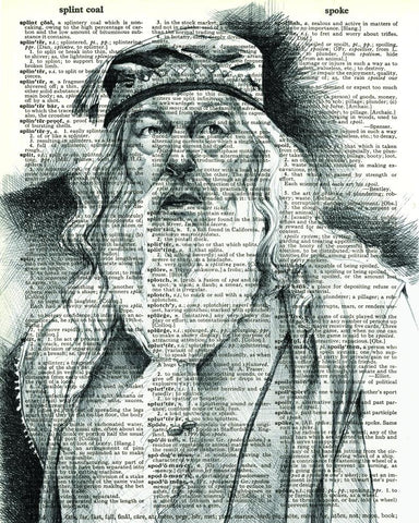 Dumbledore - Dictionary Art Print