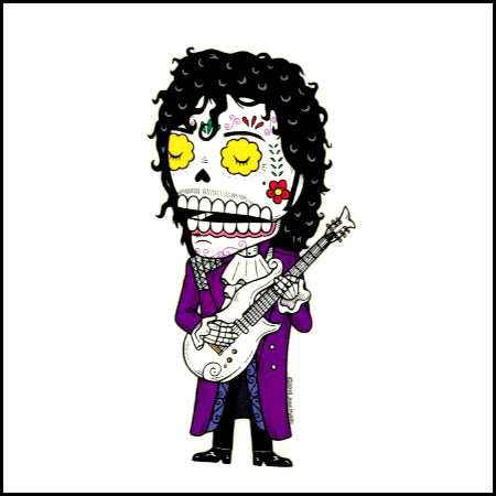 Prince - Day of the Dead Sticker