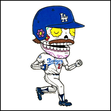LA Dodger Kirk Gibson - Day of the Dead Sticker