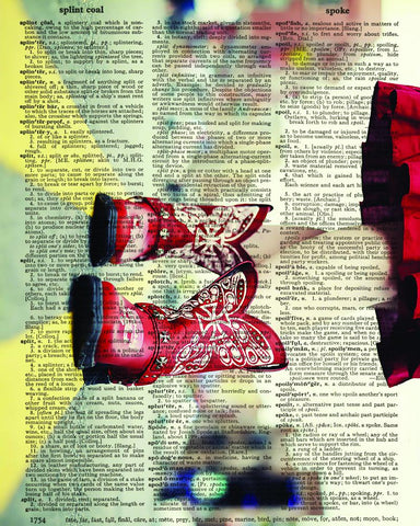Dictionary Art Print Printed On Authentic Vintage Dictionary Book Page - 8 x 10.5 - Little Red Boots