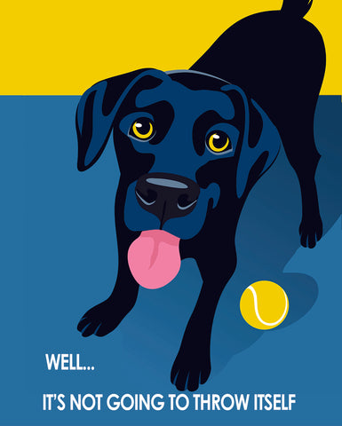 Play Catch Labrador - Pop Art Prints
