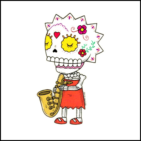 Lisa Simpson - Day of the Dead Sticker