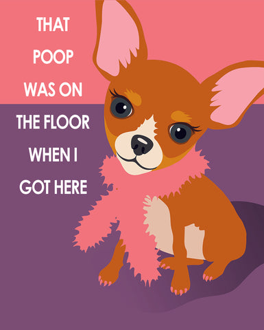 Potty Time Chihuahua - Pop Art Prints