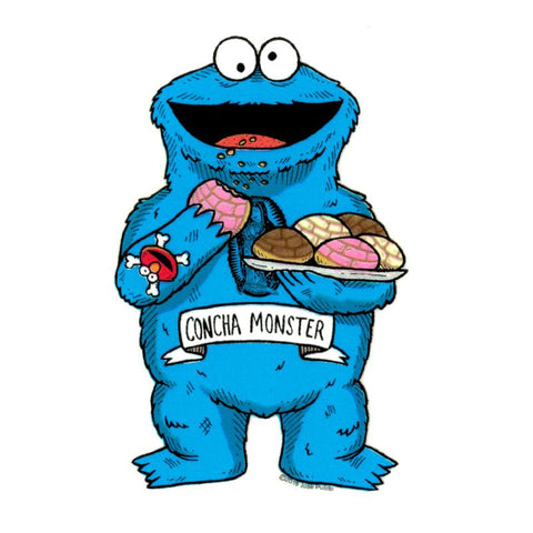 Cookie Monster - Day of the Dead Sticker