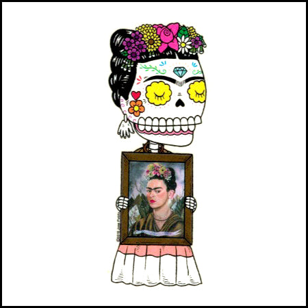 Frida Painting - Day of the Dead Sticker