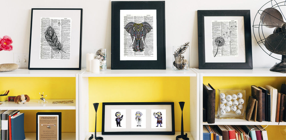 Fresh prints of ct artisan crafted posters and gifts an image of a shelf displaying charmed greetings dictionary art prints and day of the m4hsunfo
