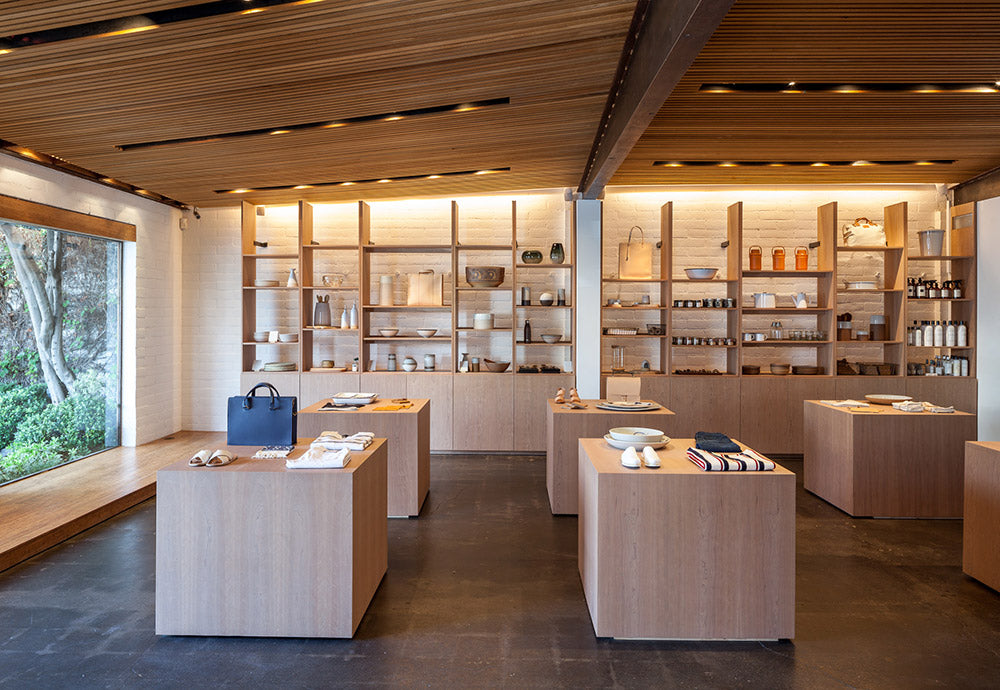 with its warm architectural design the store is where kaynes eponymous collections and carefully curated home goods intermingle - Jenni Kayne Store