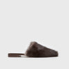 Mule Slide - Dark Brown Mink