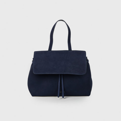 Suede Mini Lady Bag - Blue