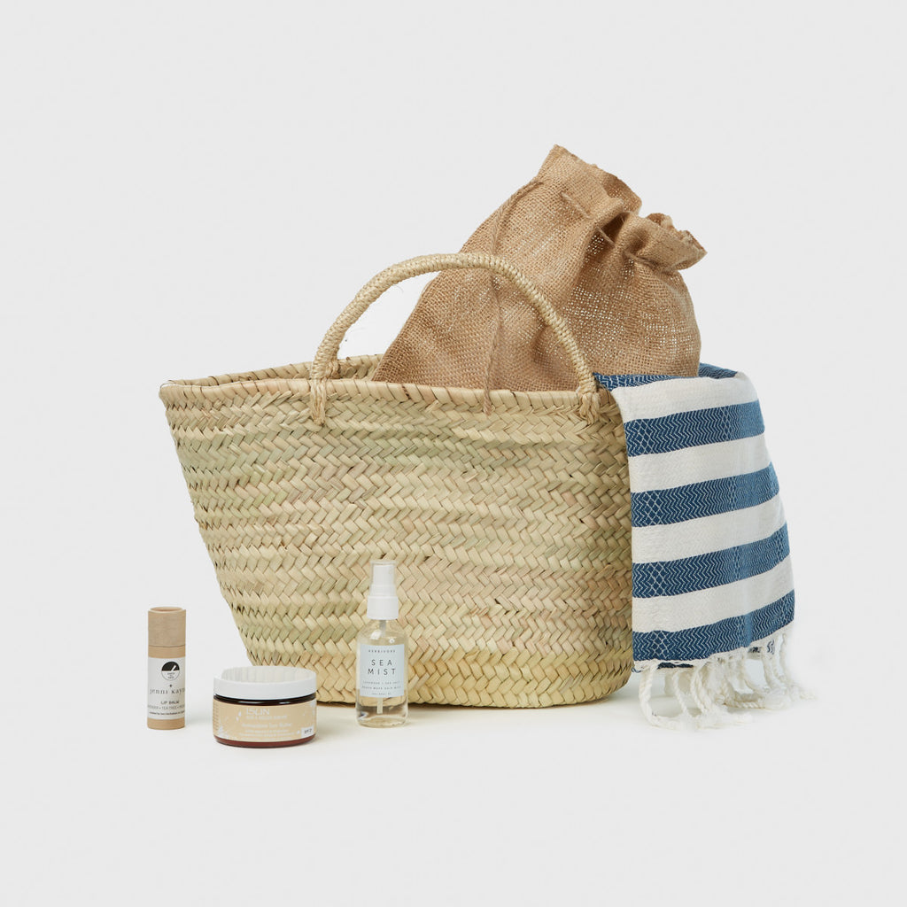 Beach Bag Gift Basket