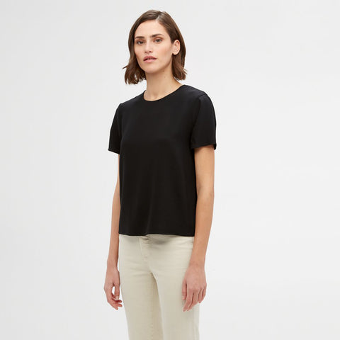 Crepe T-Shirt - Black