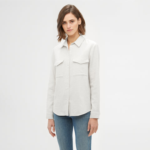 Cotton Safari Shirt - White