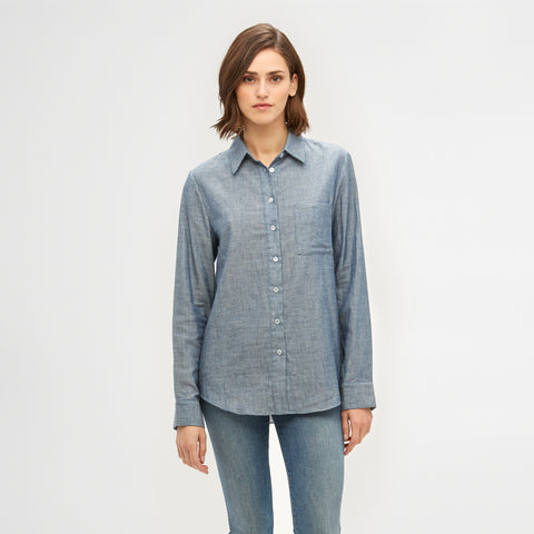 Chambray Classic Button-Up - Denim Blue