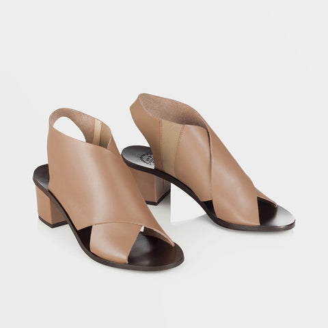 Sofia Low Heel Sandal - Blush - Final Sale
