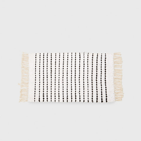 Diagonal Bath Mat - Black/White