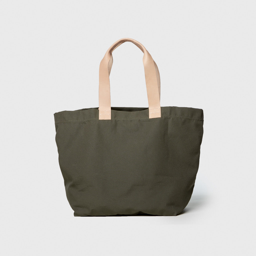 Carry All Wide Tote - Military/Natural