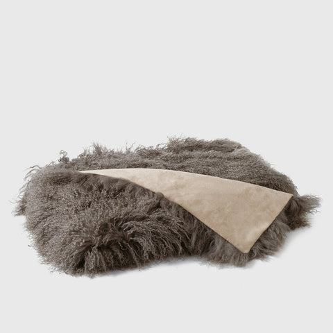 Tibetan Sheepskin Throw - Portabella