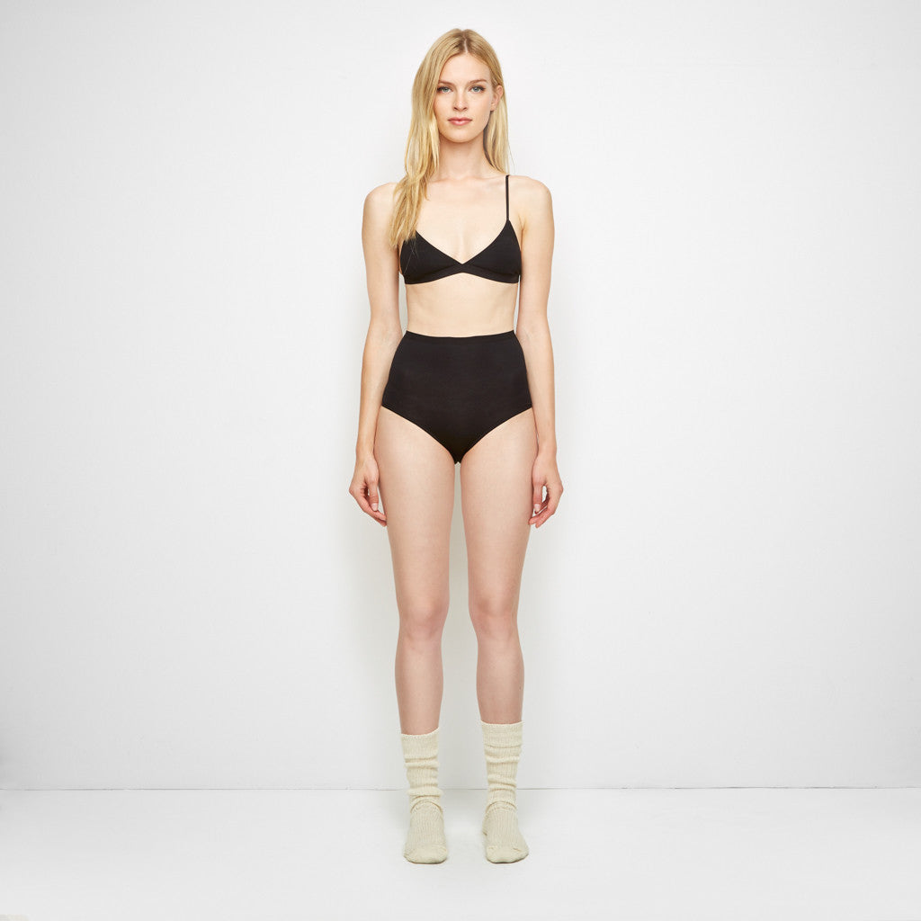 Bamboo Highwaist Bell Underpants - Black