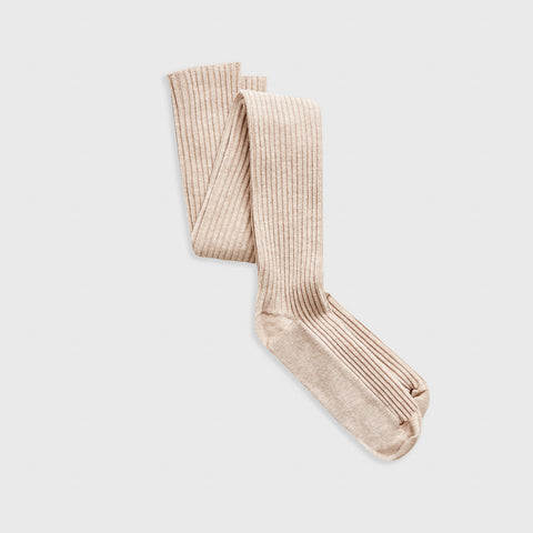 Longstaple Cotton Over Knee Sock - Nude Melange