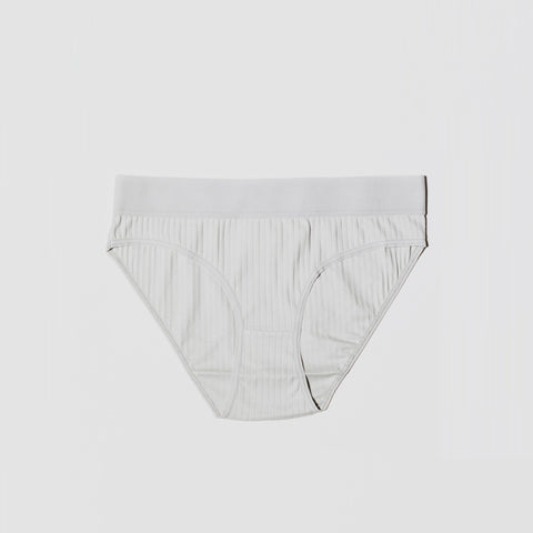Wide Rib Elastic Bell Underpants - Dusty Blue